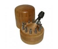 Обжимки 4,50-9,00 мм (к-т 12 шт.) в футляре 4704