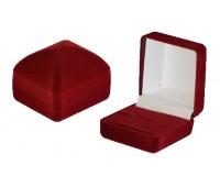"Футляр ""Классика"" пирамида под кольцо, бордовый флок"