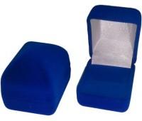 "Футляр ""Классика"" пирамида под кольцо, синий флок"